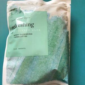 Bath & Body Works CUCUMBER ALOE Towelettes